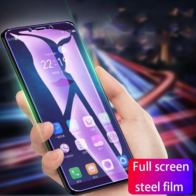 100 X полное покрытие Настоящее 9 H твердость закаленного Стекло Экран протектор для huawei P30 Lite жесткий фильм гвардии Анти Blu-Ray