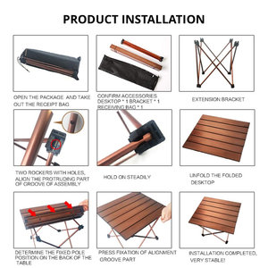 Image 3 - Big Small Brown folding portable picnic table chair  camping table outdoor furniture