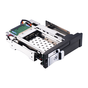Optical drive 2.5+3.5in aluminum multi-function hot swap SATA mobile rack for 5.25in PC Bay Front Slot