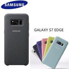 100% GENUINE Original Samsung Silicone phone Cover Case for Samsung Galaxy S7 Edge SM-G9350 Case Back Cover Coque Shockproof