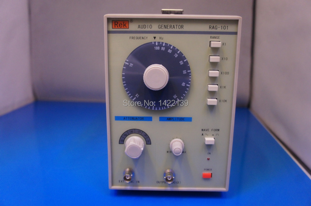 REK RAG-101 Low Frequency Signal Generator (10Hz-1MHz) 10hz 1mhz low frequency function signal audio generator producer rek rag101