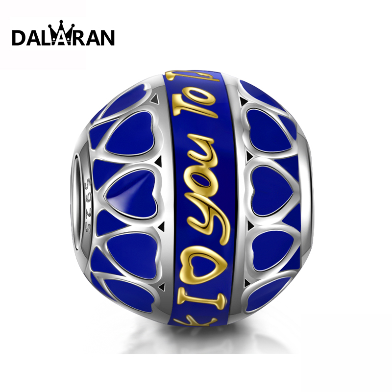 DALARAN Fashion Jewelry New 925 Sterling Silver European Beads DIY Pendant Bracelet Accessories Charms For Women