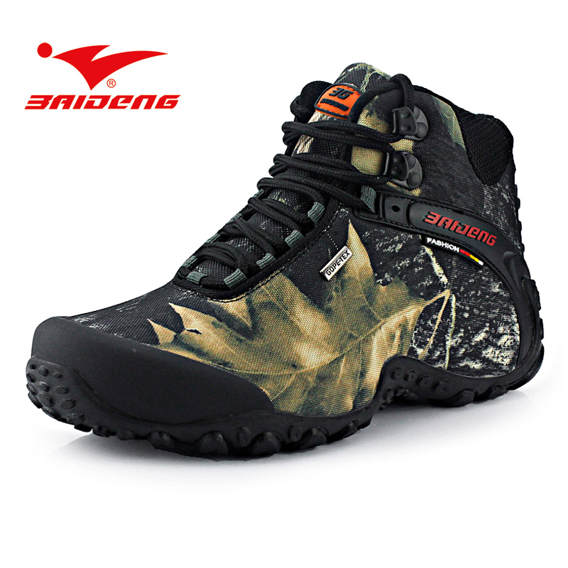 Baideng Men waterproof outdoor Hiking shoes Climbing fishing shoes Men trekking hiking boots shoes sneakers zapatillas hombre outdoor high top suede trekking boots lace up leisure sport fishing hiking shoes men waterproof breathable climbing sneakers