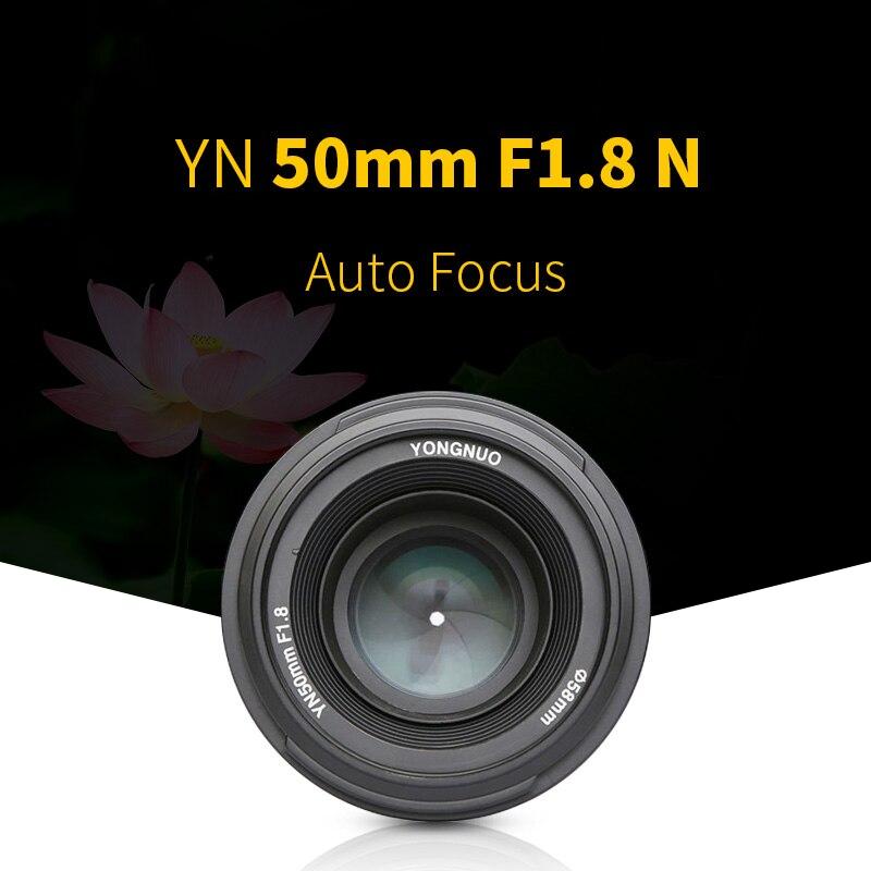 Yongnuo YN50mm F1.8N Grande Apertura Messa A Fuoco Automatica AF Lens per Nikon DSLR macchina fotografica usata 50 millimetri f1.8n lente regalo per 58 MILLIMETRI mcuv-in Lente per fotocamera da Elettronica di consumo su AliExpress - 11.11_Doppio 11Giorno dei single 1