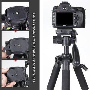 Image 3 - Профессиональный портативный алюминиевый штатив Q111 для путешествий с цифровой камерой, аксессуары для SLR, штатив для цифровой зеркальной камеры