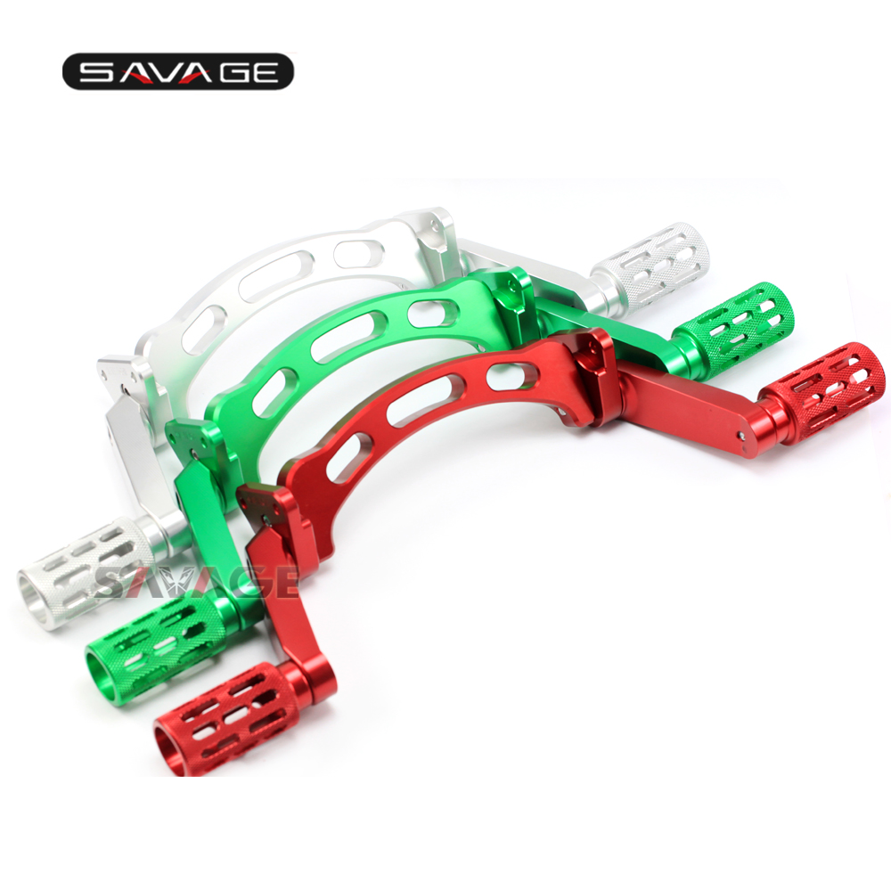 For KAWASAKI NINJA ZX-6R ZX-6RR 2003-2004 Adjustable Subcage Stunt Passenger Pegs Motorcycle Performance Stunt