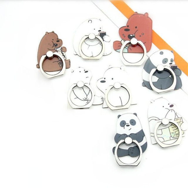 UVR Mobile Phone Stand Holder Cartoon Beauty Lady Finger Ring Smartphone Cute Animal Bear Panda Holder Stand For All Phone