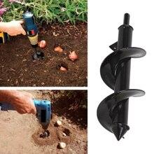 Recém 2019 acessórios do bocado de broca espiral do eixo helicoidal do jardim para o plantio do fundamento bulbos mudas
