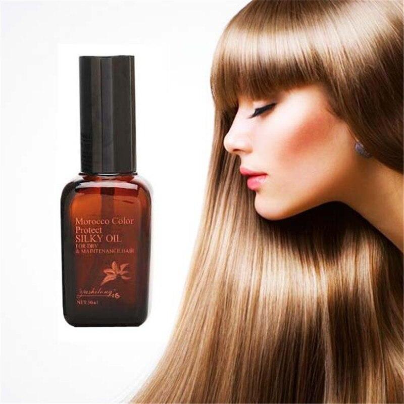 Марокканского Уход за волосами масло 50 мл для ремонт повреждений волосы влаги для после кератин лечении лечения Парикмахерская Essential масло