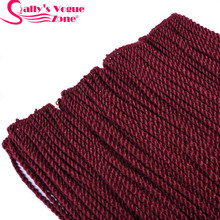 5packs/lot Sallyhair small Senegalese Crochet Twist Braids Hair Crochet Braid 30strands/Pack Color Ombre Synthetic Braiding Hair