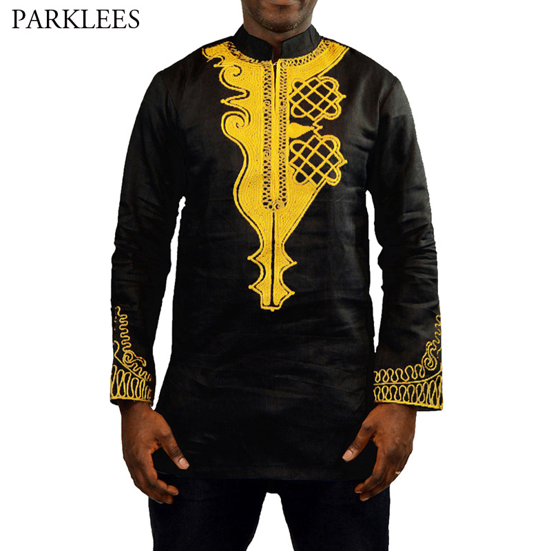 X-Future Mens Casual Long Sleeve African Fribal Print Button Up Pineapple Print Shirt Blouse
