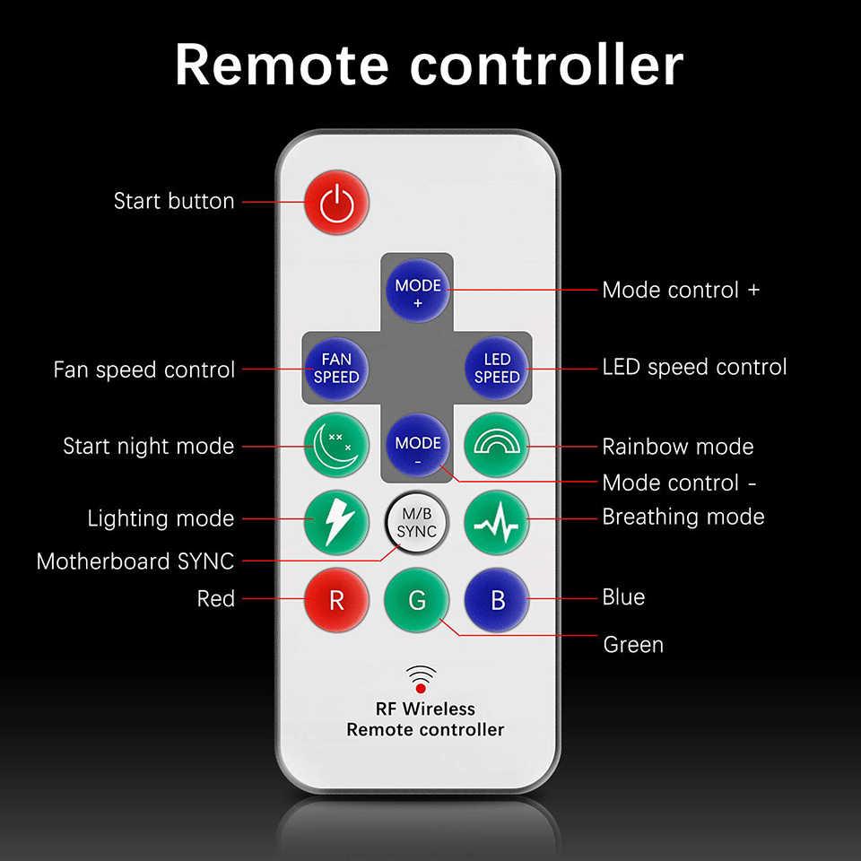 Darkflash DR12-pro aura sincronização computador caso ventilador de refrigeração rgb ajustar led 120mm ir remoto computador cooler caso rgb ventilador luz