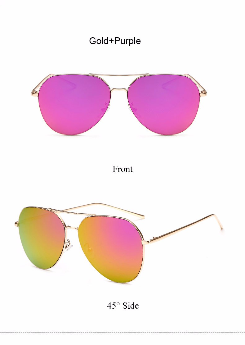 HTB1BncrNFXXXXa4XFXXq6xXFXXX6 - Flat Lens Mirror aviation Sunglasses Women Stylish Sun Glasses PTC 296