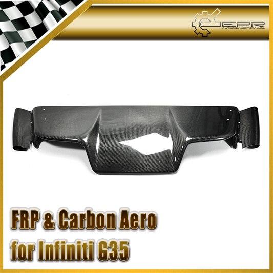 Voiture-Style pour Nissan 2003-2008 Z33 350z Infiniti G35 Coupe 2D JDM fibre de carbone TS Style diffuseur arrière 6 pièces (avec raccord)