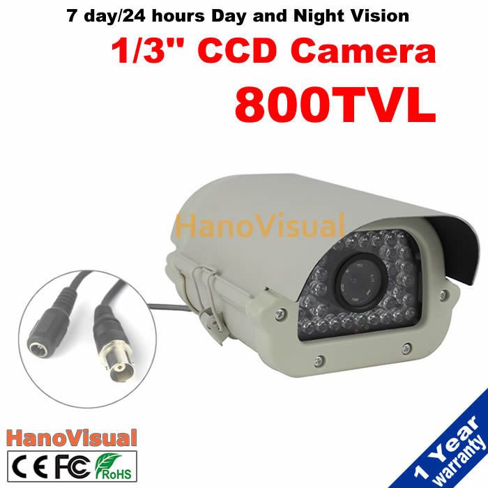 ФОТО 35pcs IR Leds 800tvl CCD CCTV Camera 960H Indoor And Outdoor Waterproof Home Security Camera Night Vision IR Surveillance Camera