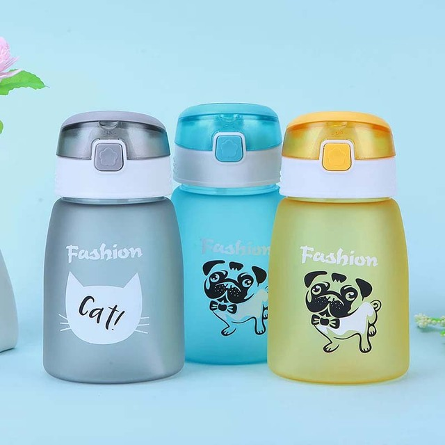 430ml Baby Bottle Kids Children Learn Feeding Drinking Water Straw Bottle mamadeira Sippy Training Cup Baby Feeding Cup