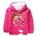 new Cotton Trolls With Fleece children kids girls coat 4-12Years  Winter New Teenager Girls Jacket Coat For Children Outerwear