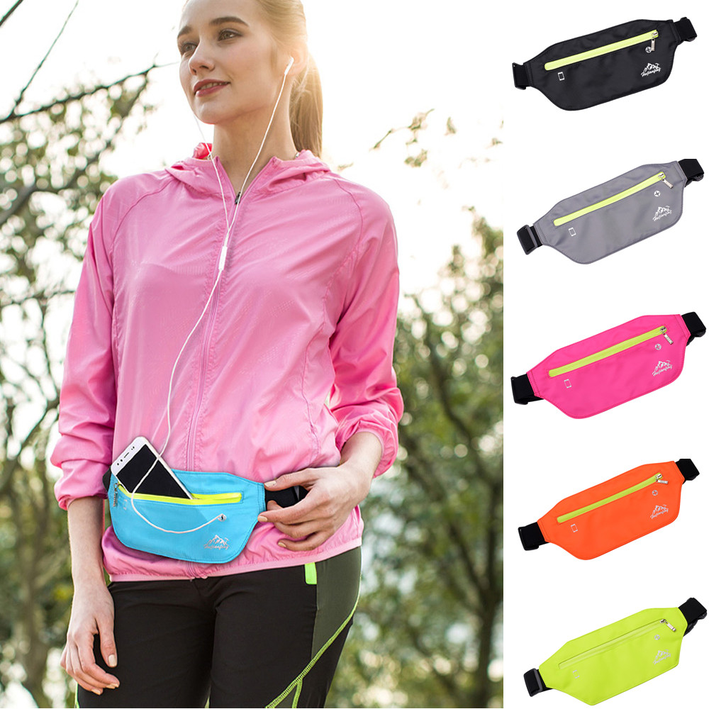 Outdoor Sport Waist Bags Women Pure Color Zipper Nylon Messenger Bag Chest Phone Pouch Fanny Pack Female Belt Bag 2019#H10 messenger bag