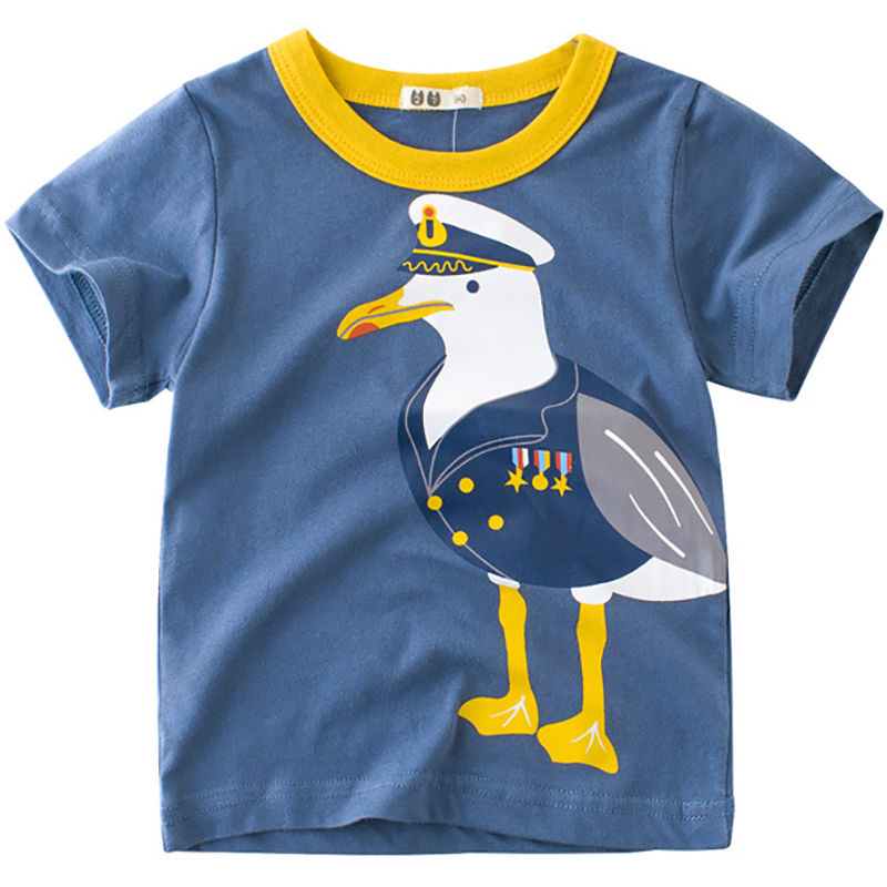 Boys T-Shirts Cute Fun Cartoon Design Girls Tops Summer 2018 Kids Clothes 100% Cotton Children Short Sleeve Tshirt Baby T Shirt
