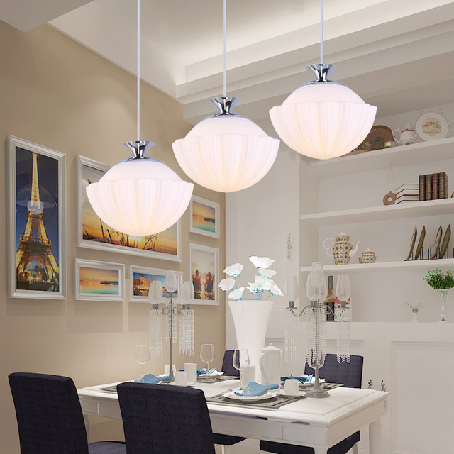 Modern Simple Personalized Dining Chandelier Room Three Bar Creative Round Table Free