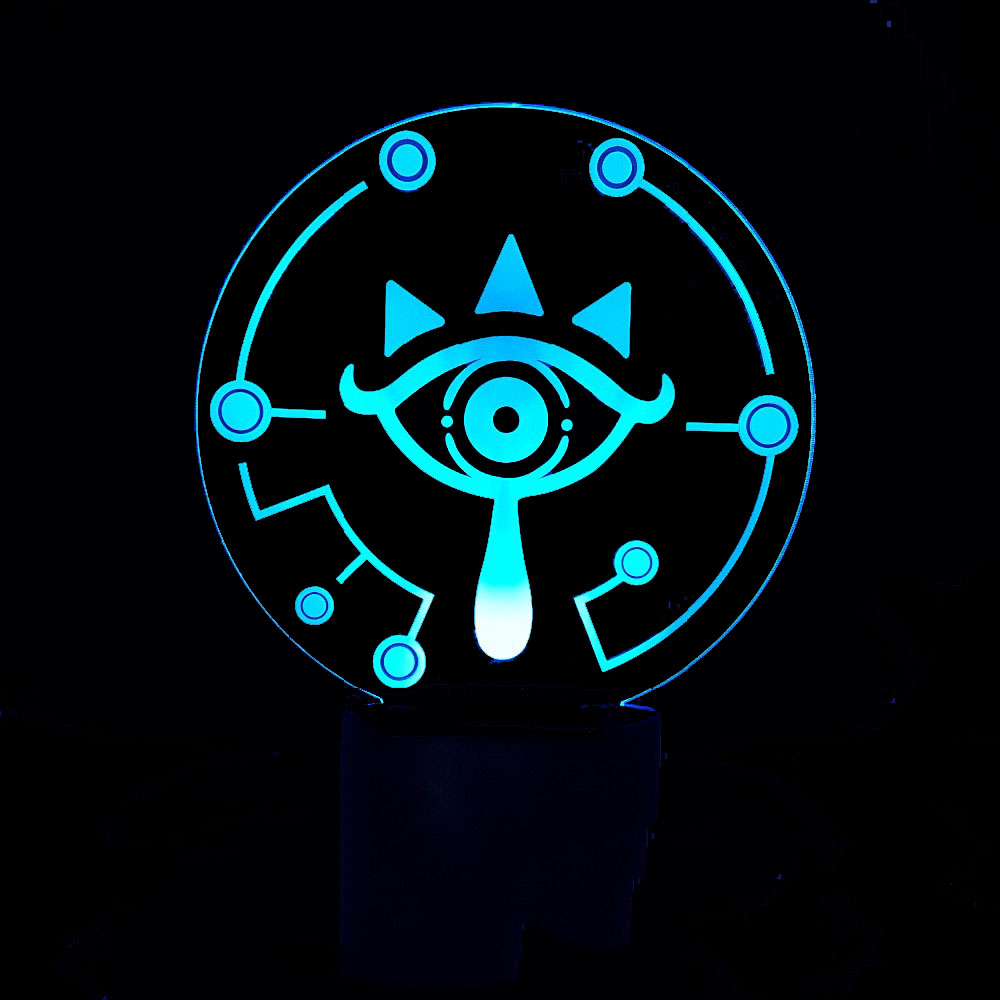 3D Led Baby Sleep Night Lights 7 Colors Changing Abstract Eyes Table Lamp Bedside Cartoon Game Lighting Light Fixture Home Decor