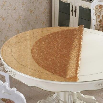 PVC ronde nappes tapis de table Imperméable Isolation Anti-chaude En Plastique nappe oilproof Platine pad table basse couverture