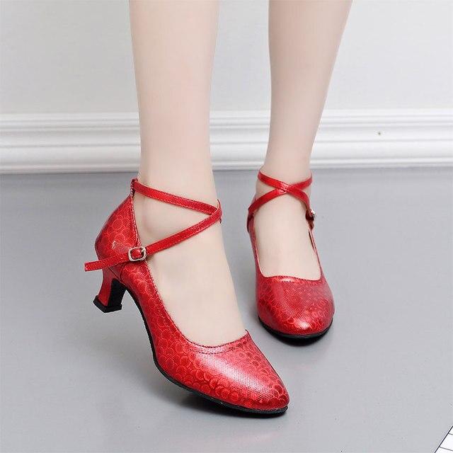 new concept 72036 f82db Nouvelle Arrivée Femmes Dames Orteil Fermé Chaussures De Danse Latine Salle  De Bal de Partie Intérieure