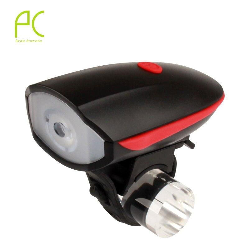 PCycling 250 Lumens Bike Electric <font><b>Horn</b></font> Bicycle Bright Headlights Vocal USB Charging Night Riding Cycling Light 110 Decibel Bell