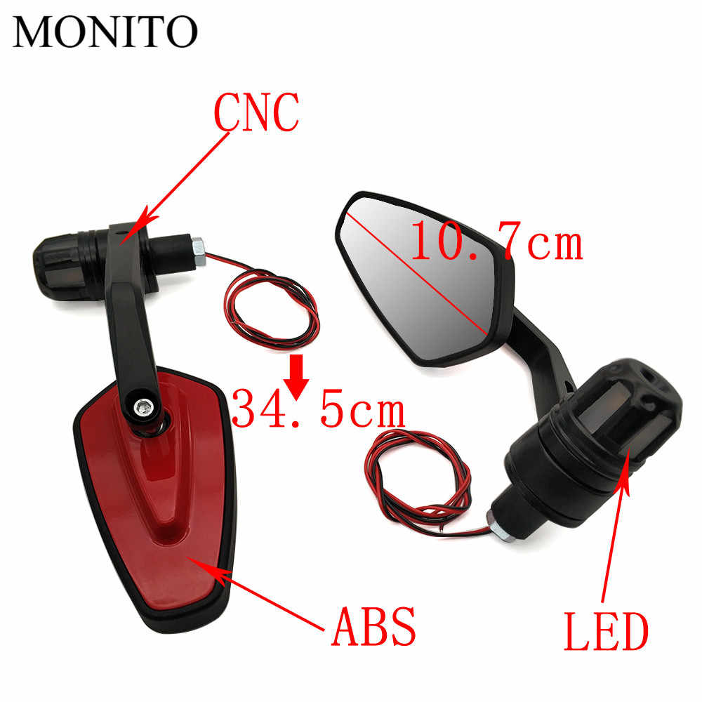 Untuk Yamaha Mt07 Mt09 Fz07 Fz09 MT/FZ 07 09 MT10 XSR 700 22 Mm Pegangan Motor Belakang bar End Sisi Cermin Sinyal Giliran