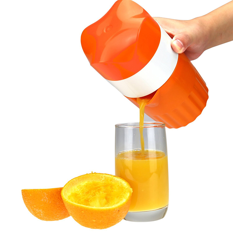 Mini Portable Manual Lemon Juicer Mini Fruit Juicer Hand Lemon Orange Citrus Squeezer Big Capacity Manual Citrus Juicer 420ml penguin manual lemon juicer coffee cup blender orange citrus squeezer