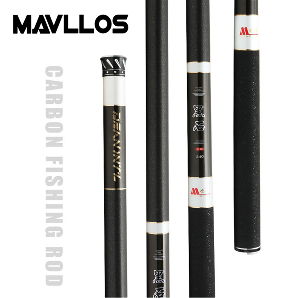 Mavllos 3 6 7 2M Carbon Carp Fishing Rod 6 Sections Pole 15kg Fast Superhard Thin