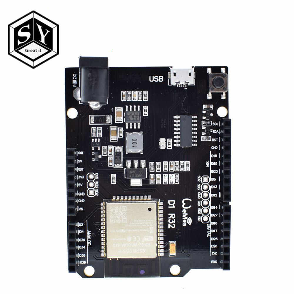 GREAT IT  For Wemos D1 ESP32 ESP-32 WiFi Bluetooth 4MB Flash UNO D1 R32 Board Module CH340 CH340G Development Board For Arduino