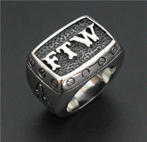 Размер 7 ~ 15 байкерское кольцо из нержавеющей стали 316L FTW панк механический винт мужское байкерское кольцо