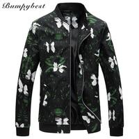 Bumpybeast 2018 spring autumn new Men's fashion thin floral jacket with fertilizer plus size 5XL 6XL Coat JK778
