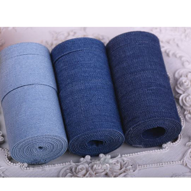 High quality 5 Yard/Lot Denim Ribbon,For Diy Handmade Gift Craft Packing Hairbow Accessories Wedding Materials Package