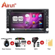 2 din 100% Free shippingCar Radio Double 2 din Car DVD Player GPS Navigation map In dash Car PC Stereo video+Free Map+Free Cam