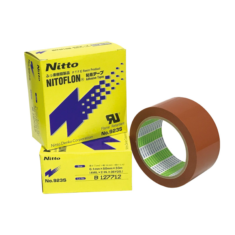923S T0.10mm*W50mm*L33m Japan NITTO Tape 923S Heat Resistant Glass Fibre Cloth Adhesive Tape