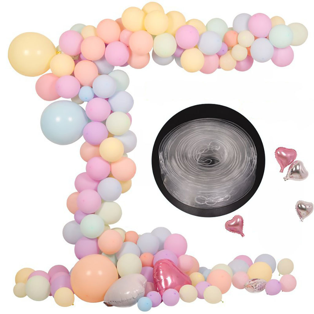15M Wedding Party Balloon Fixing Glue Chain Wedding Party Arches Helium Balloon Decoration Transparent PVC Rubber Chain Balloons