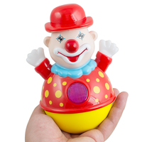Music Baby Toys Electric Tumbler Nodding Clown Educational Early Learning Toys Musical Toy For Children Musical