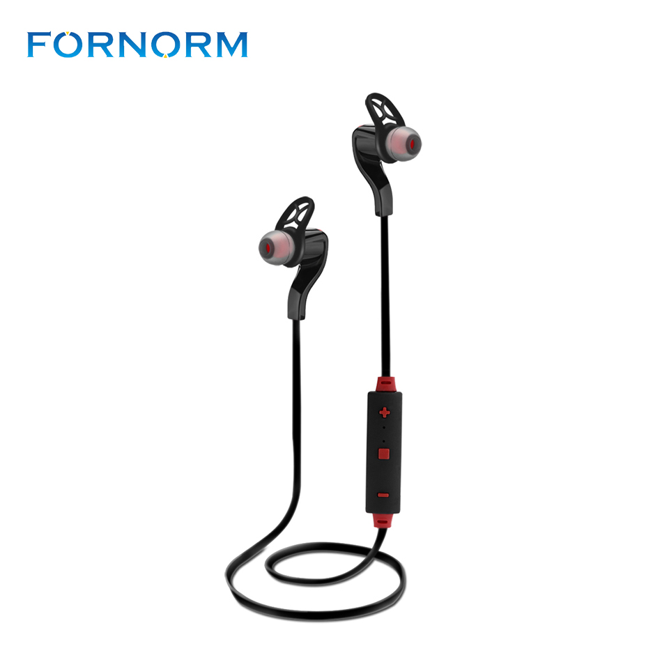 Fornorm BT-3 Wireless V4.1 Bluetooth Earphone In-ear Headphone Stereo Sweatproof Headset Earbuds for Sport Exercise hbs 760 bluetooth 4 0 headset headphone wireless stereo hifi handsfree neckband sweatproof sport earphone earbuds for call music