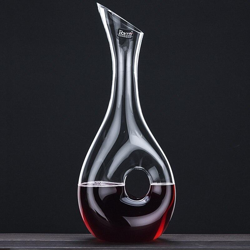 Qualidade do Vinho Decanter Decanter Estilo Caracol Projeto Garrafa de Vinho Tinto 400 ML & 1000 ML Decanter de Vidro Livres De Chumbo Superior gaseificador de vinho
