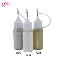 Gold Sliver Shimmer Crystal Multic And Magic Glitter Powder Jet Nail Art Decoration Design Acrylic UV
