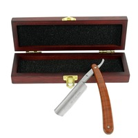 ZY430+ Handmake Shave Ready Shaving Straight Razor Men Folding Cut Throat Knife For Barber Shave Beard Wood Gift Box