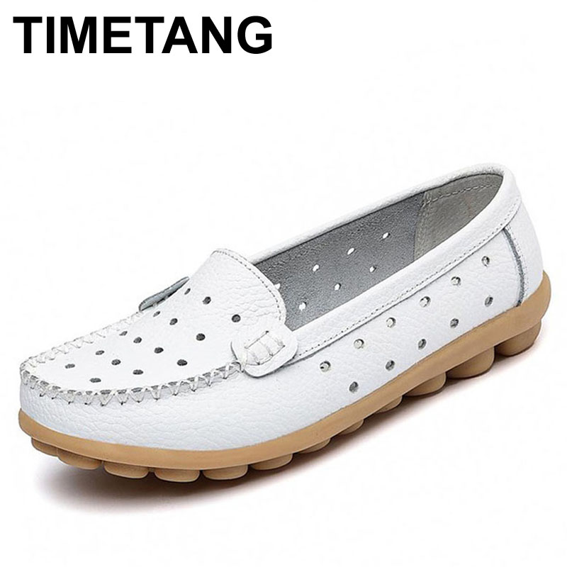 TIMETANG spring flats woman women's genuine leather shoes mother shoes flat slip-resistant casual shoes women comfort shoes timetang 2017 leather gladiator sandals comfort creepers platform casual shoes woman summer style mother women shoes xwd5583