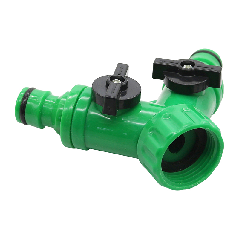 ABS 2 Way Y Type Garden Tap Hose Adapter Adaptor Connector Hose Pipe Splitter