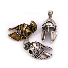 Spartan Helmet Bead Antique Color for Paracord Bracelet Keychain or DIY Lanyard Making