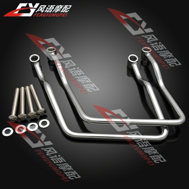 цены  Free Shipping Motorcycle Chrome Steel Saddlebag Support Bar For Honda Shadow 400 Shadow750