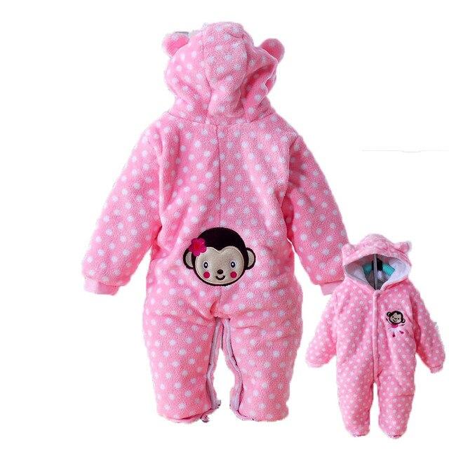 2015 мода зима хлопок синий желтый розовый горошек унисекс дизайнер новорожденный ребенок детский зимний комбинезон (0.5 кг)