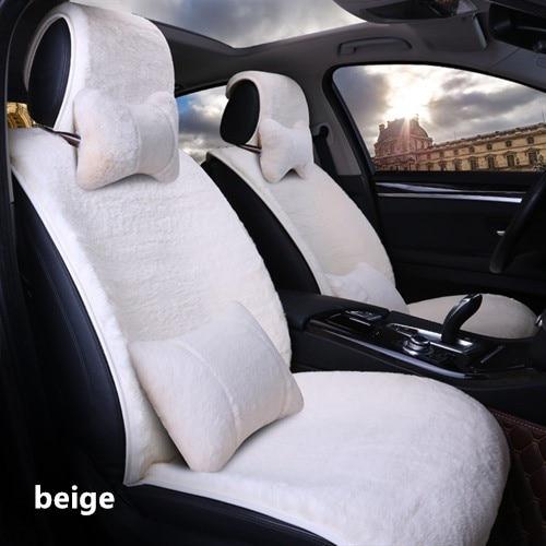 winter Car Short plush Cushion colorful fake fur cute car interior accessories cushion warmer cushion