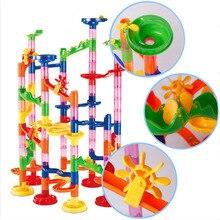 105pcs Set DIY Construction Marble Race Run Maze Track Building Blocks Kids Ball Toys